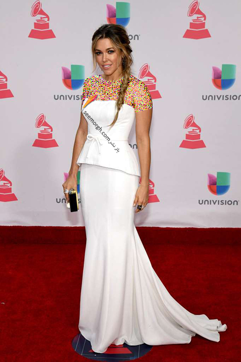 مدل لباس راشل پلتن Rachel Platten در latin grammy awards 2016