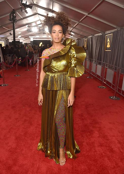 مدل لباس سولانگ Solange در جوایز گرمی Grammy 2017