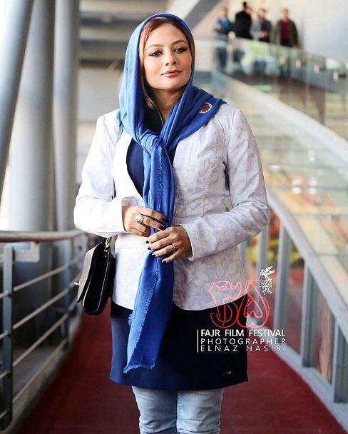 چهره یکتا ناصر در حاشیه جشنواره فیلم فجر
