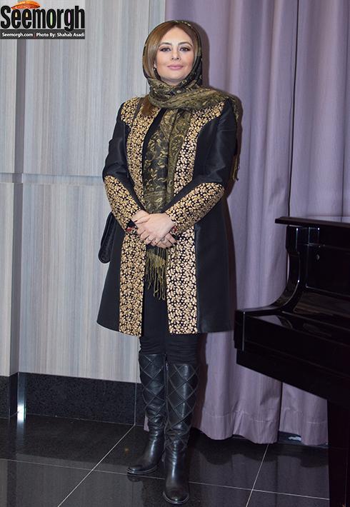 مدل مانتو یکتا ناصر در مراسم اکران فیلم ماحی