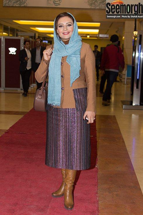 مدل مانتو یکتا ناصر در افتتاحیه جشنواره فجر 35