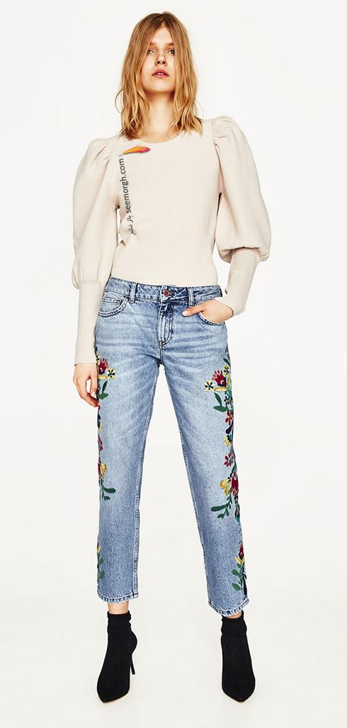شلوار جین طرح دار زارا Zara برای بهار 2017 - عکس شماره 11
