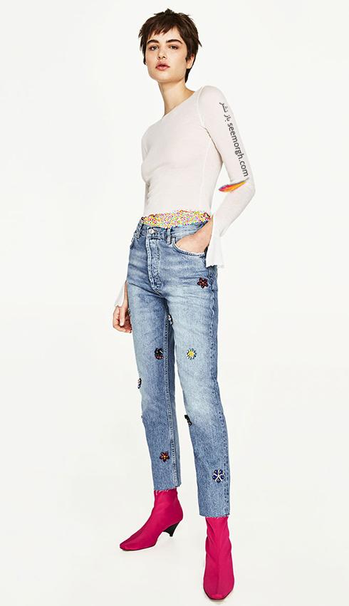 شلوار جین طرح دار زارا Zara برای بهار 2017 - عکس شماره 10