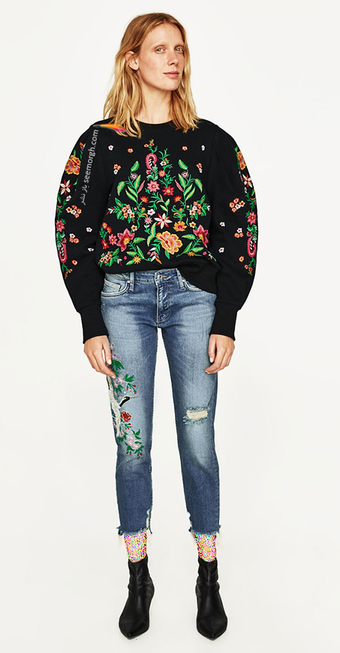 شلوار جین طرح دار زارا Zara برای بهار 2017 - عکس شماره 9