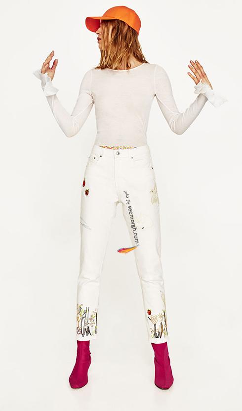 شلوار جین طرح دار زارا Zara برای بهار 2017 - عکس شماره 8