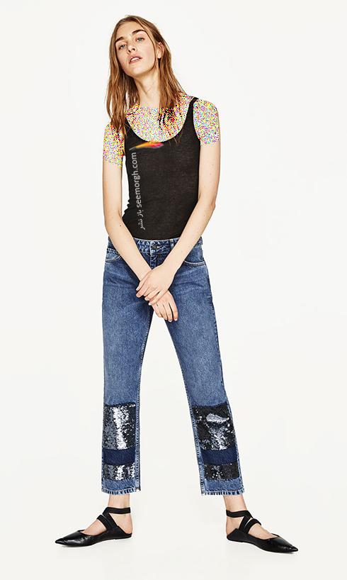 شلوار جین طرح دار زارا Zara برای بهار 2017 - عکس شماره 7
