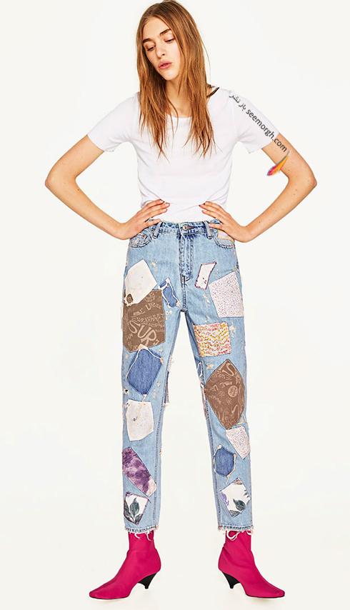 شلوار جین طرح دار زارا Zara برای بهار 2017 - عکس شماره 6