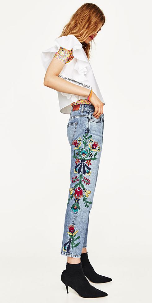 شلوار جین طرح دار زارا Zara برای بهار 2017 - عکس شماره 5