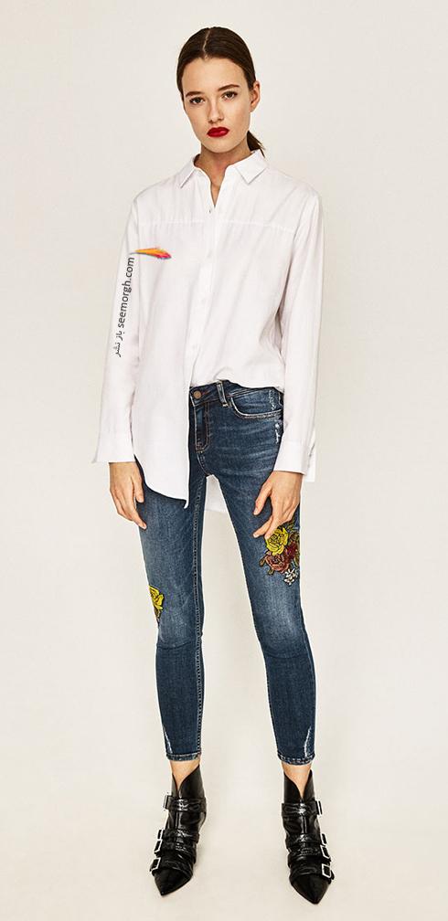 شلوار جین طرح دار زارا Zara برای بهار 2017 - عکس شماره 4