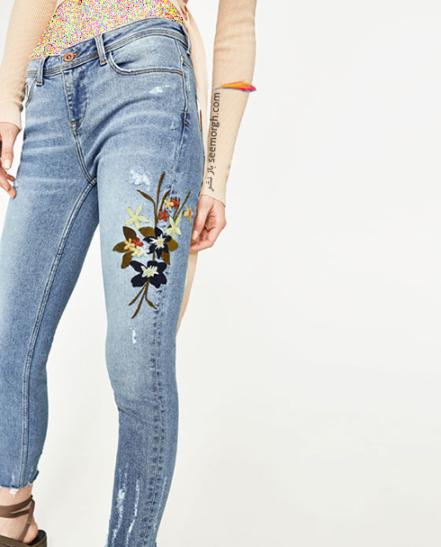 شلوار جین طرح دار زارا Zara برای بهار 2017 - عکس شماره 2