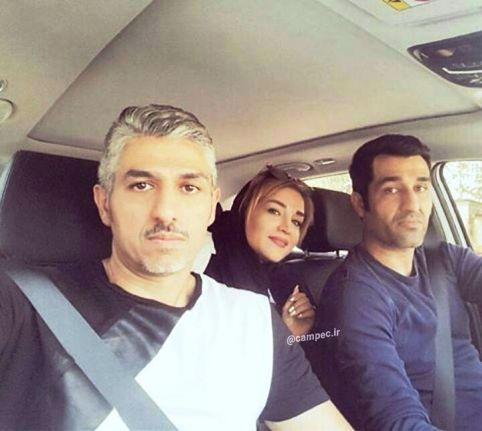 پژمان جمشیدی در کنار خواهر و برادرش