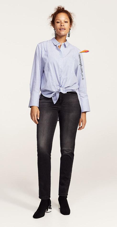 شلوار جین زنانه منگو برای خانم های سایز بزرگ - عکس شماره 1