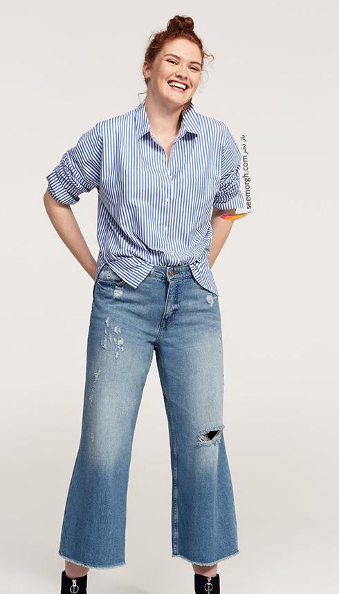 شلوار جین زنانه منگو برای خانم های سایز بزرگ - عکس شماره 3