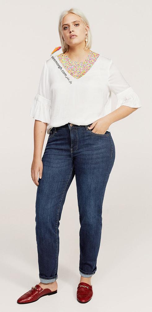شلوار جین زنانه منگو برای خانم های سایز بزرگ - عکس شماره 8