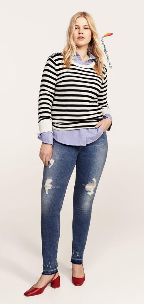 شلوار جین زنانه منگو برای خانم های سایز بزرگ - عکس شماره 10