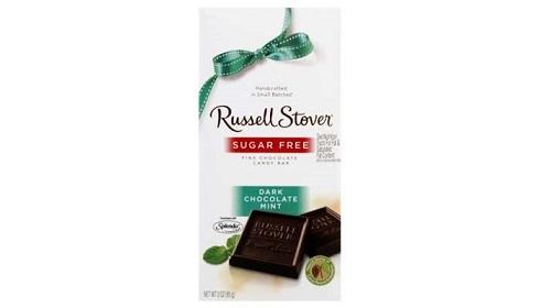 شکلات تلخ نعنایی بدون قند راسل استور