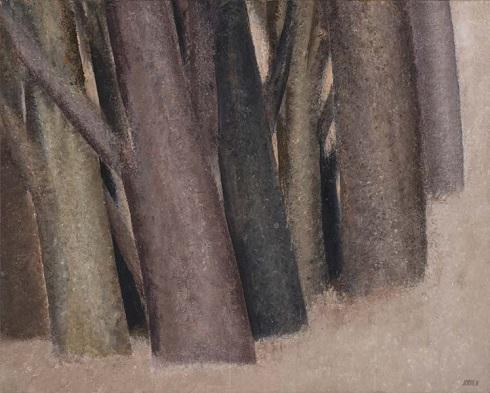تابلوی تنه درختان اثر سهراب سپهری