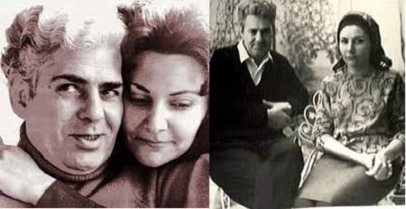 احمد شاملو و  همسرش