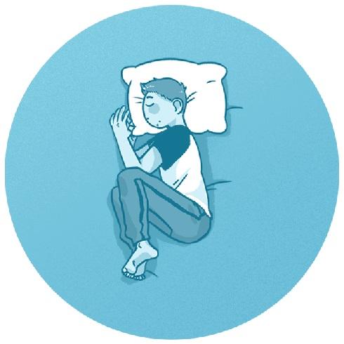 خوابیدن به پهلو به حالت جنینی