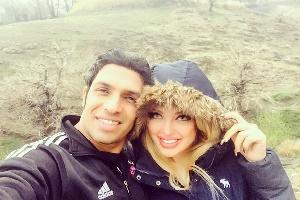 عکس زیبای سپهر حیدری و همسرش