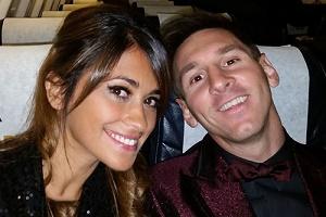 عکسی بسیار جالب از مسی در کنار همسرش