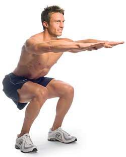 بزرگ کردن باسن با تمرین Squat یا نشستن استقامتی بدون صندلی