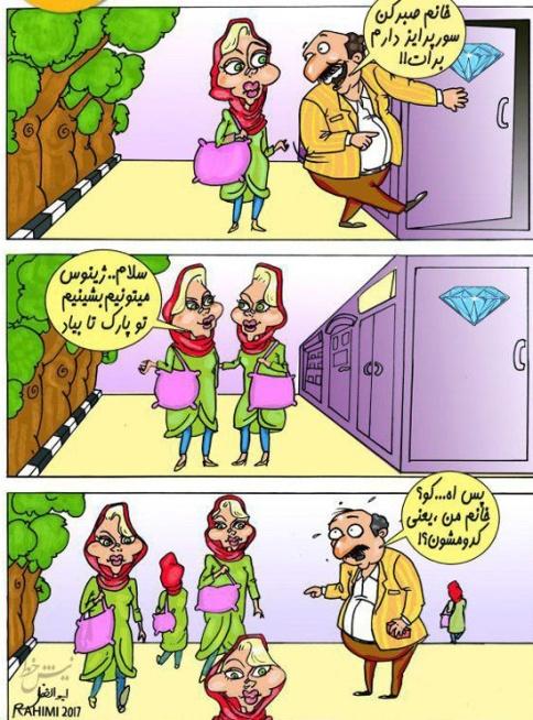 کاریکاتور: اعتیاد به جراحی زیبایی و شباهت زنان ایرانی به یکدیگر