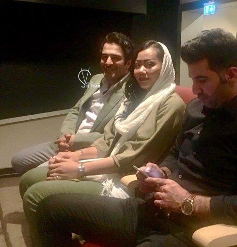 یوسف تیموری به همراه همسرش در جشن حافظ