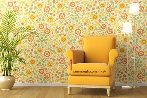 کاغذ دیواری با طرح گلدار در دکوراسیون داخلی