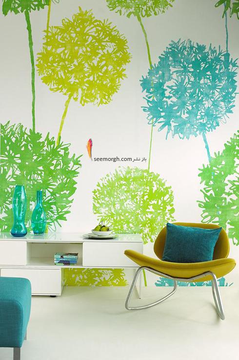 کاغذ دیواری رنگی در دکوراسیون داخلی